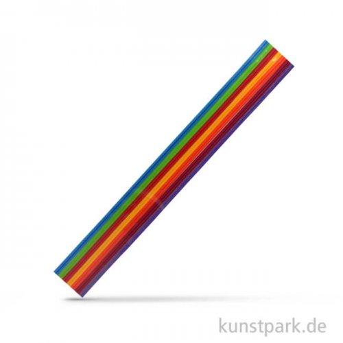 Wachs-Zierstreifen Regenbogen, 2 mm x 23 cm, 14 Stück