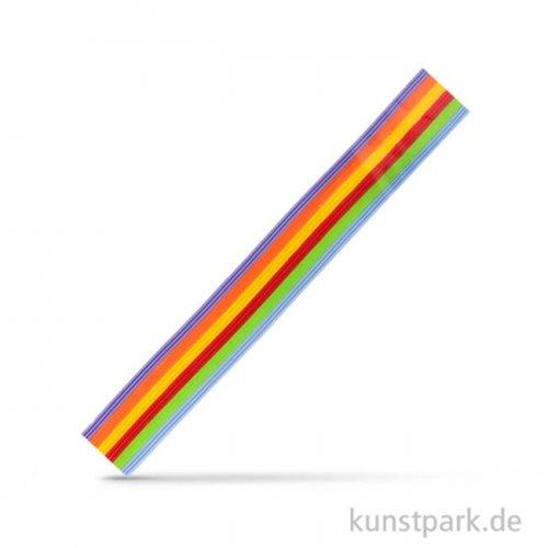 Wachs-Zierstreifen Regenbogen, 20x0,1 cm, 18 Stück sortiert