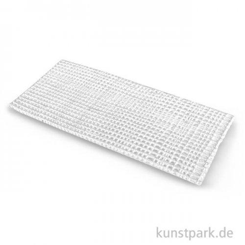 Wachsgeflecht - Weiß-Perlmutt, 6x13 cm 1 Stück