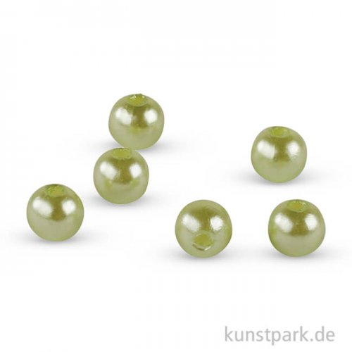 Wachsperlen - Maigrün, 6 mm, 60 Stück