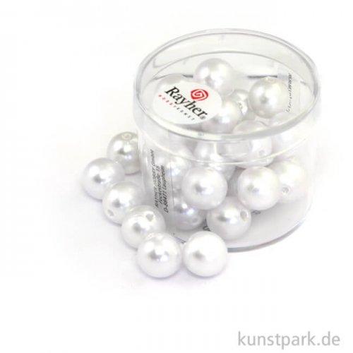 Wachsperlen Weiß Weiss | 10 mm - 30 Stück