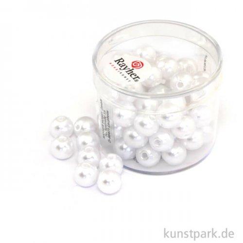Wachsperlen Weiß Weiss | 8 mm - 64 Stück