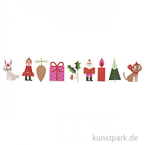 Washi-Sticker - Christmas is in the Air, 10 Designs. 200 Stück