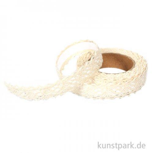 Spitzenband selbstklebend - Borte, Elfenbein - 2,5 m