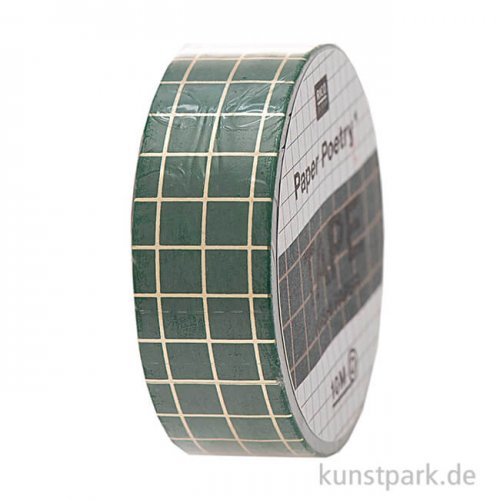 Washi Tape - Christmas is in the Air, Grün-Gold, 10 m