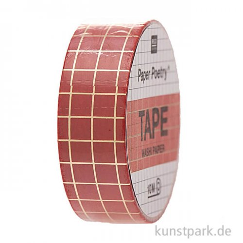 Washi Tape - Christmas is in the Air, Rot-Gold, 10 m