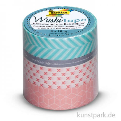 Washi-Tape GEOMETRISCH - 4er Set, je 10 m
