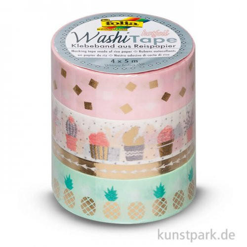 Washi-Tape Hotfoil - GOLD, 4er Set, je 5 m