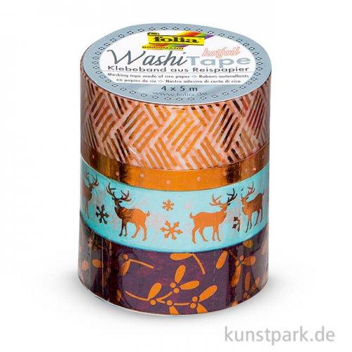 Washi-Tape Hotfoil - KUPFER II, 4er Set, je 5 m