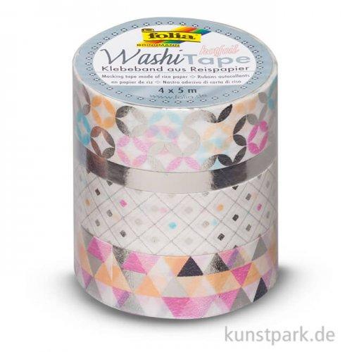 Washi-Tape Hotfoil - SILBER, 4er Set