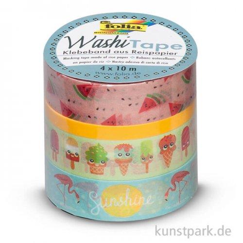 Washi-Tape TROPICAL - 4er Set