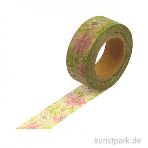 Washitape - Blumenbordüre 2, 15 mm, 10 m