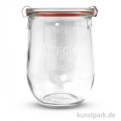 Weckglas mit Glasdeckel Dichtung und Klammern - 1062 ml