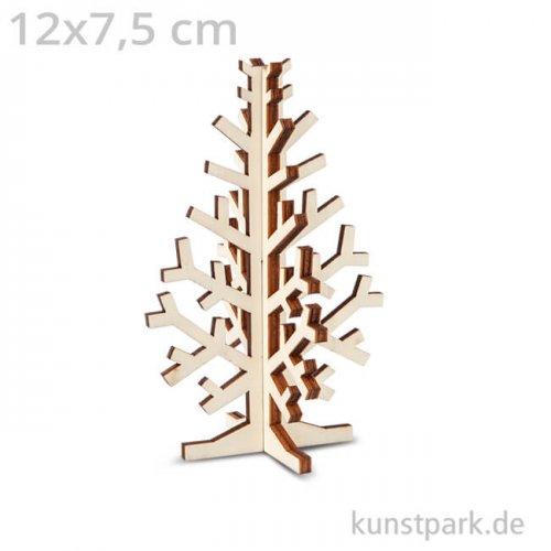 Weihnachtsbaum aus Holz zum Zusammenstecken 12 x 7,5 cm