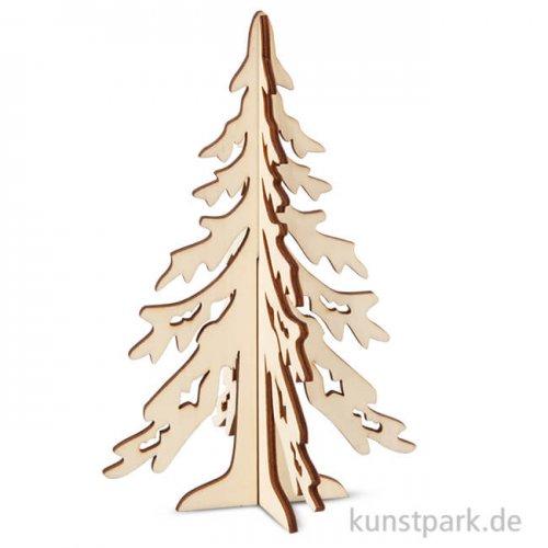Weihnachtstanne aus Holz zum Zusammenstecken