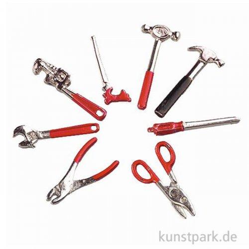 Werkzeugeset, 4 cm, 8-teilig