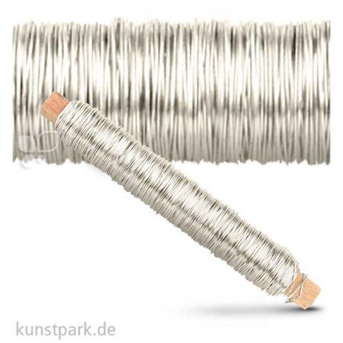 Wickeldraht 0,5 mm 50 Meter 100 g | Silberfarben
