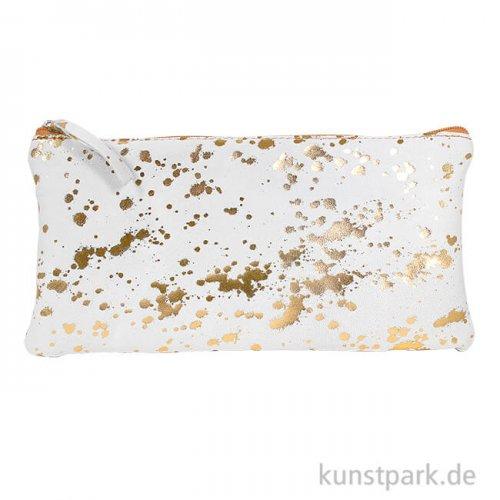Wildleder-Etui - Splash, Gold, Flach