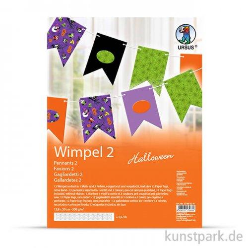 Wimpel-Kette Halloween - Fähnchen, Länge 1,65 m