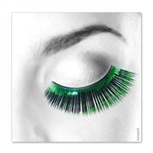 Wimpern, Grün metallic