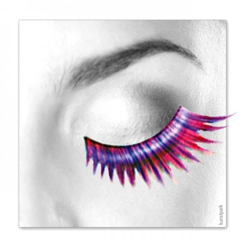 Wimpern, Pink/Lila