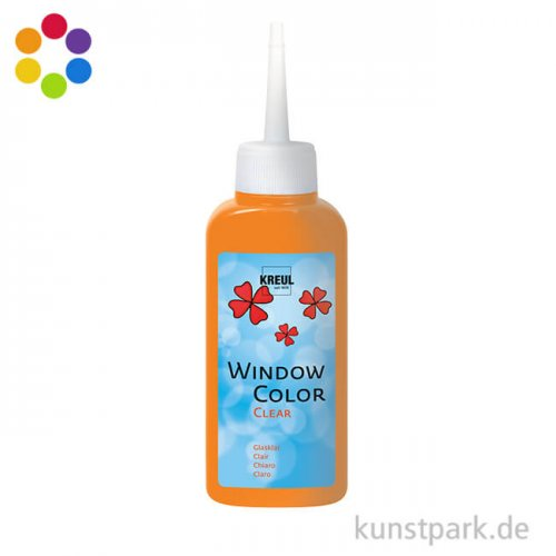 KREUL Window Color Glas Design - Glasklar 80 ml