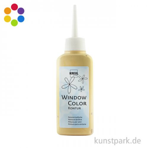 KREUL Window Color Glas Design - Konturenfarbe 80 ml