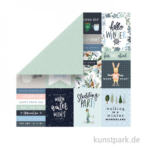 Winter Market Scrappapier - 3X4 Journaling Cards