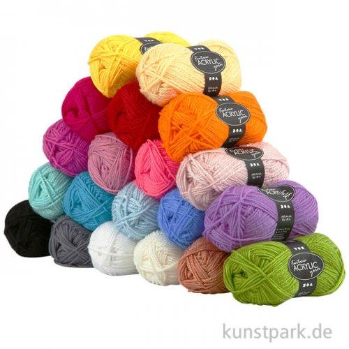 XXL Set - Acryl Wolle aus 100 % Acryl, 80 m, 20 x 50 g sortiert