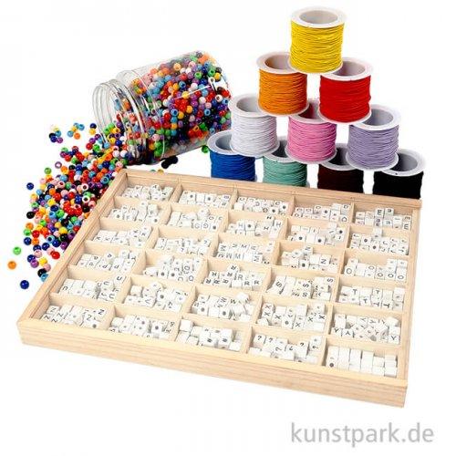 XXL Set - Bastelmaterial für Buchstaben-Armbänder