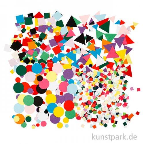 XXL Set - Bastelmaterial Mosaik aus Pappe, ca. 80.000 Stück sortiert