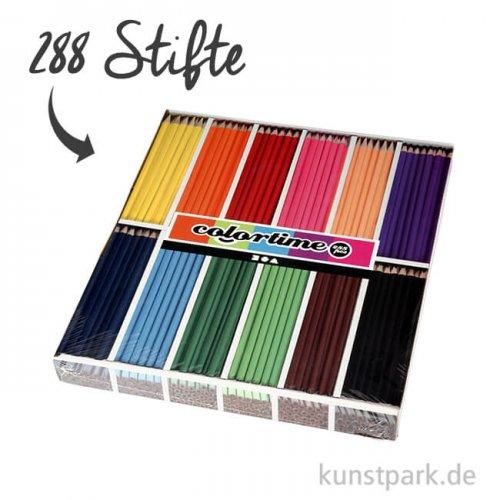 XXL Set - Colortime Buntstifte Basisfarben - 288 Stifte in der Displaybox