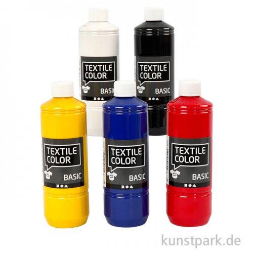 XXL Set - Textile Color Primärfarben, 5 x 500 ml