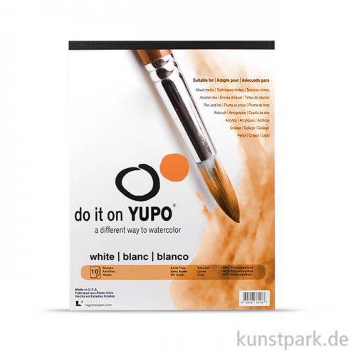 YUPO Aquarellpapier, 10 Blatt, 200g 12x17 cm