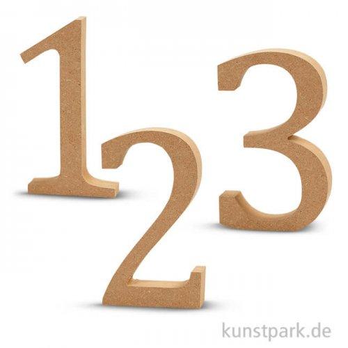 Zahlen aus Holz, 13 cm