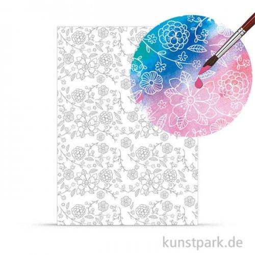 Zauberpapier - Blüten, DIN A4, 250 g