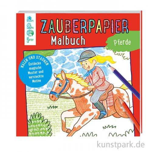 Zauberpapier Malbuch - Pferde, Topp Verlag