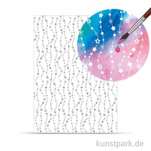 Zauberpapier - Sterne, DIN A4, 250 g