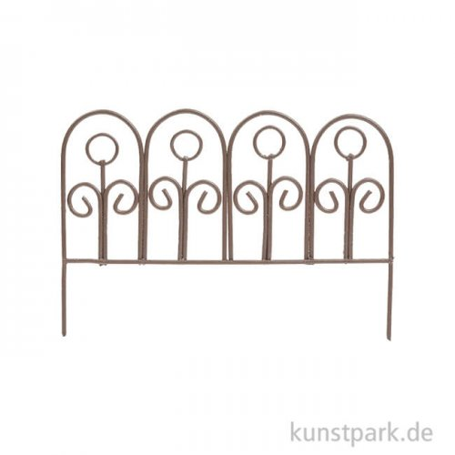 Zaun aus Metall - Braun, 8 cm