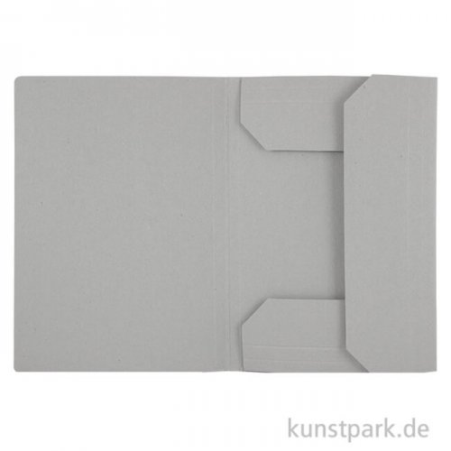 Klassische Zeichnungsmappe aus hellgrauem Karton DIN A1 **