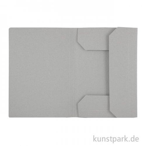 Kassische Zeichnungsmappe aus hellgrauem Karton DIN A2