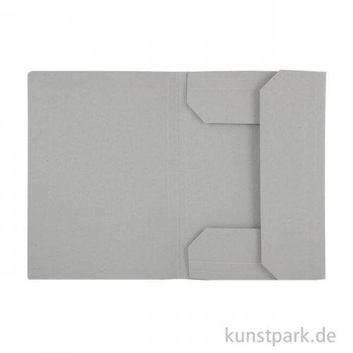 Klassische Zeichnungsmappe aus hellgrauem Karton DIN A3