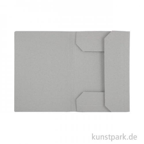 Zeichnungsmappe Klassik grau DIN A4 ohne Band