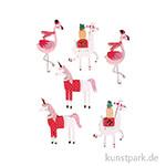 3D Papier Sticker - Lama and Friends, 6 Stück sortiert