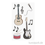 3D Sticker - Rockmusik