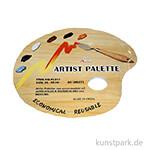 Abreißpalette - Basic, Oval mit Griffloch, 40 Blatt, 30 cm x 25 cm