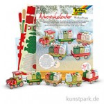 Adventskalender Bastelset - Weihnachtszug, 60-teilig