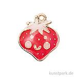 Anhänger Emaille - Erdbeere
