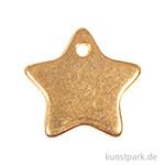 Anhänger Metall - goldener Stern, 2 Stück