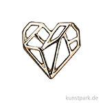 Anhänger Origami - Herz, Gold